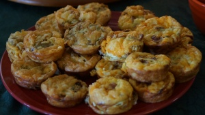 Plate full mini quiche